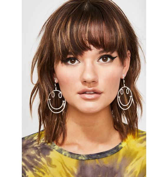 Key To Happiness Drop Earrings