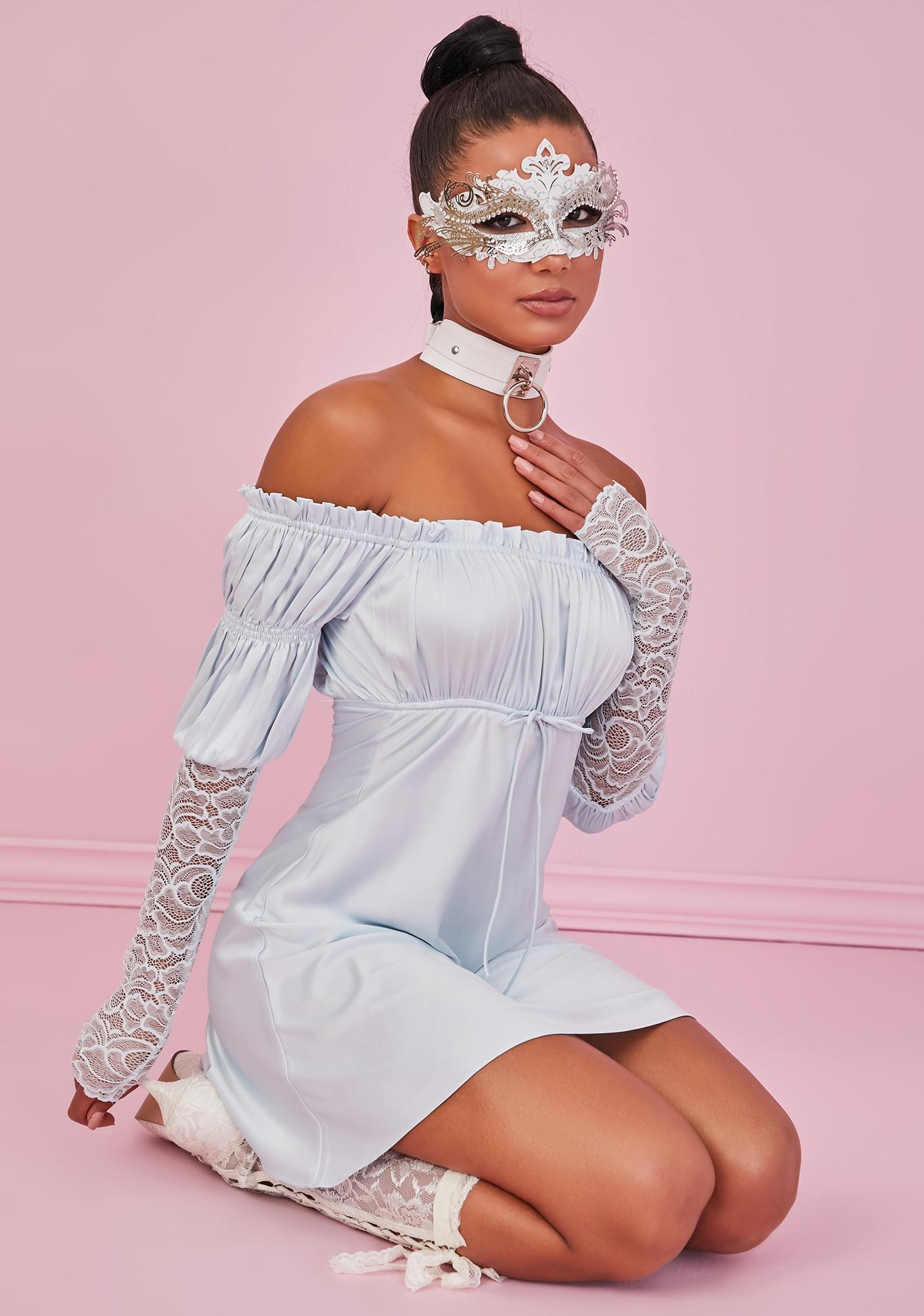 Sugar Thrillz Secret Rendezvous Satin Mini Dress