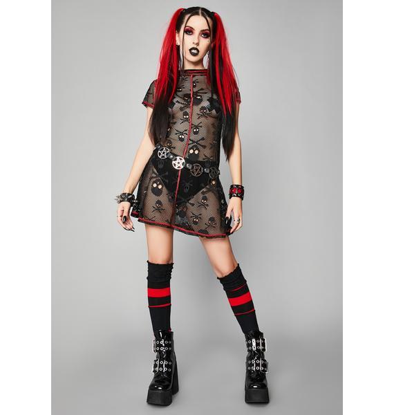 Widow Sweet Revenge Fishnet Dress