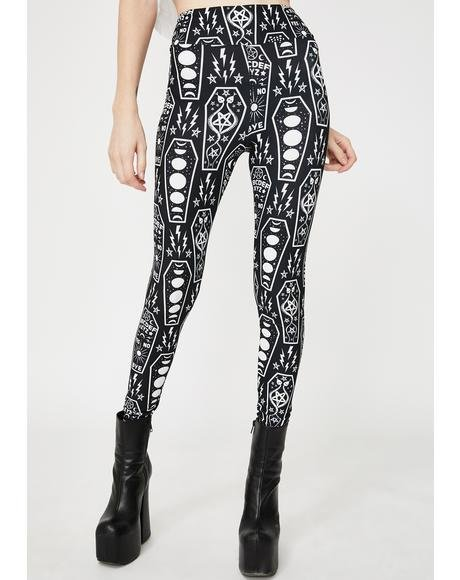 Coffin Cuties High Waist Leggings
