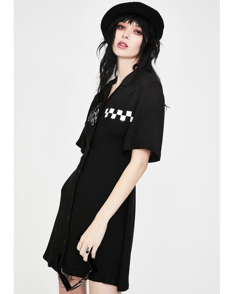Out To Lunch Shirt Dress