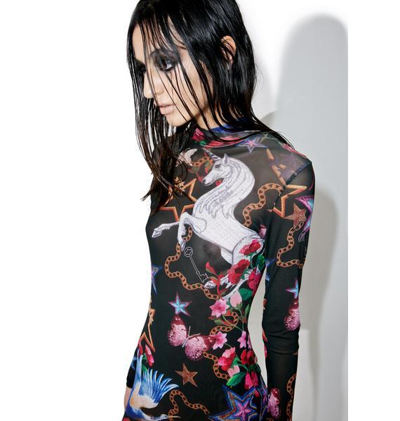 Jaded London Fairytale Mesh Mini Dress