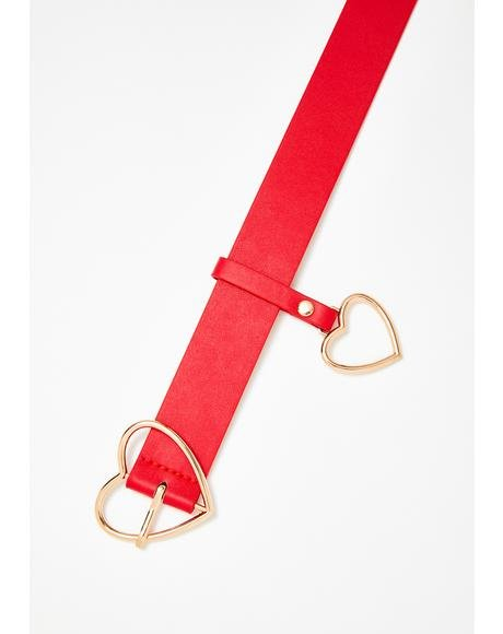 Heart On Buckle Belt