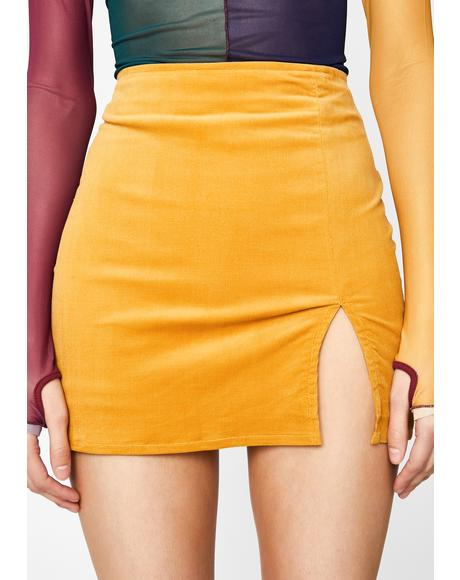 Turmeric Total Temptation Corduroy Skirt