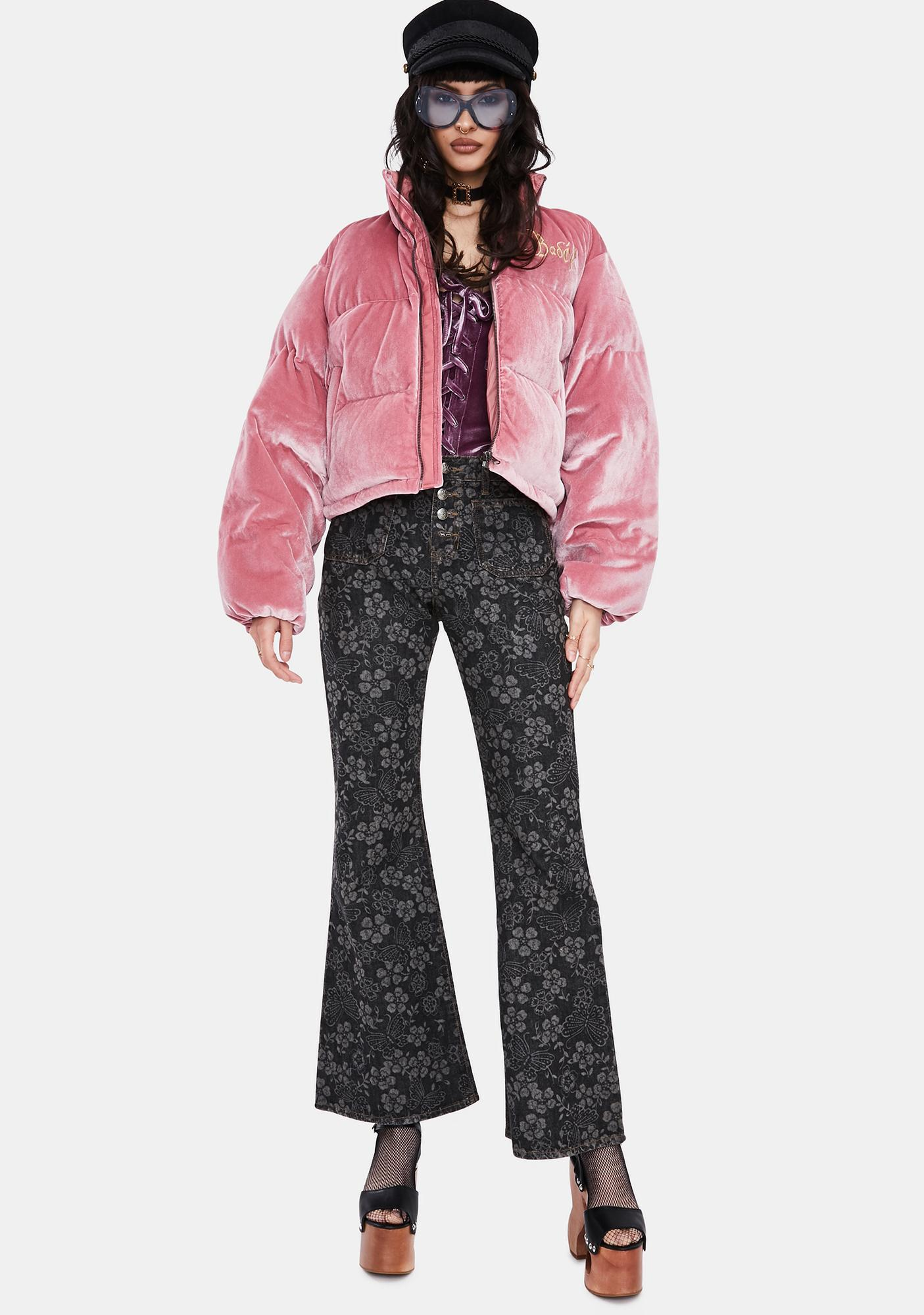 BADEE Velour Bubble Jacket