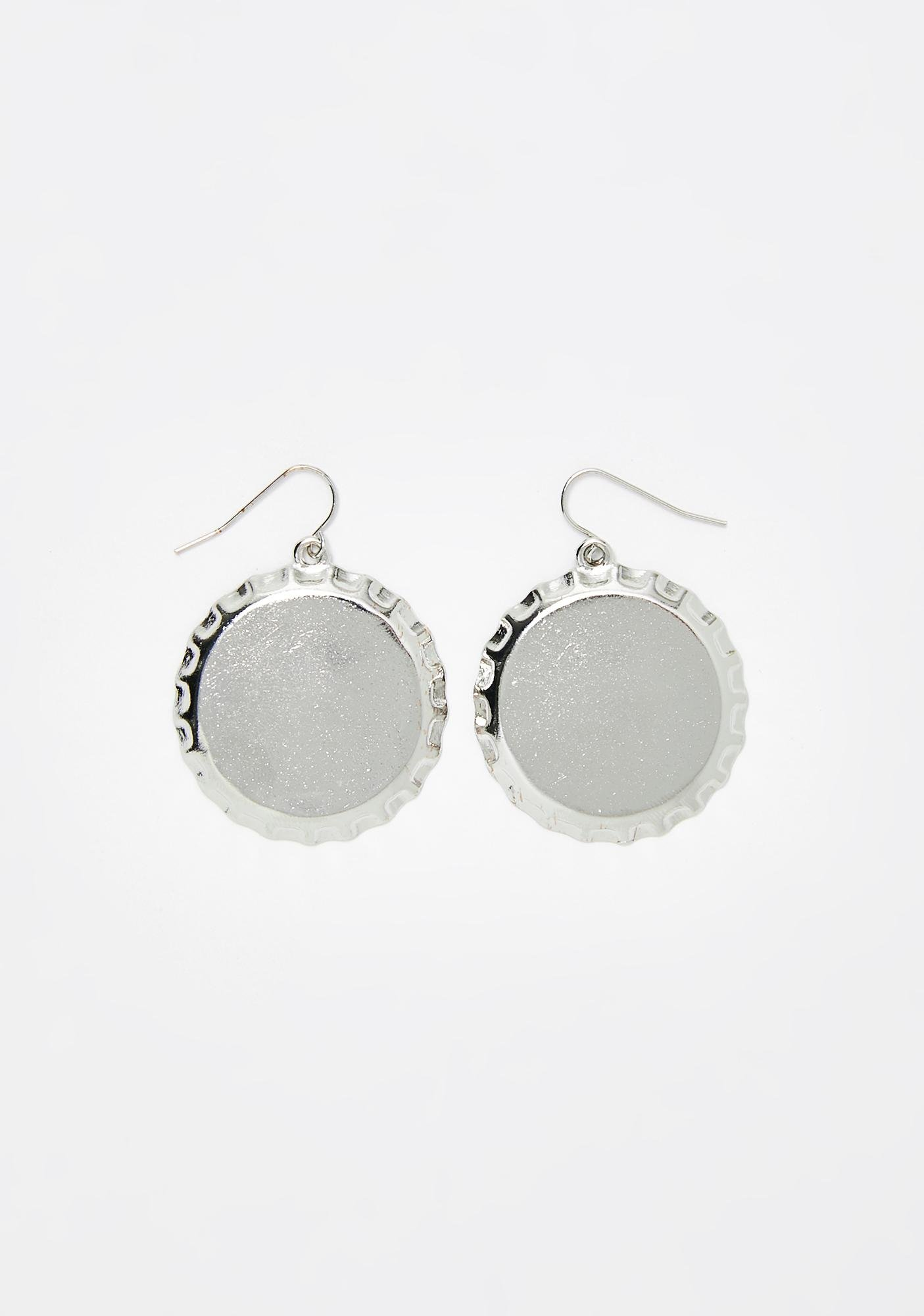 Poppin' Off Bottle Cap Earrings