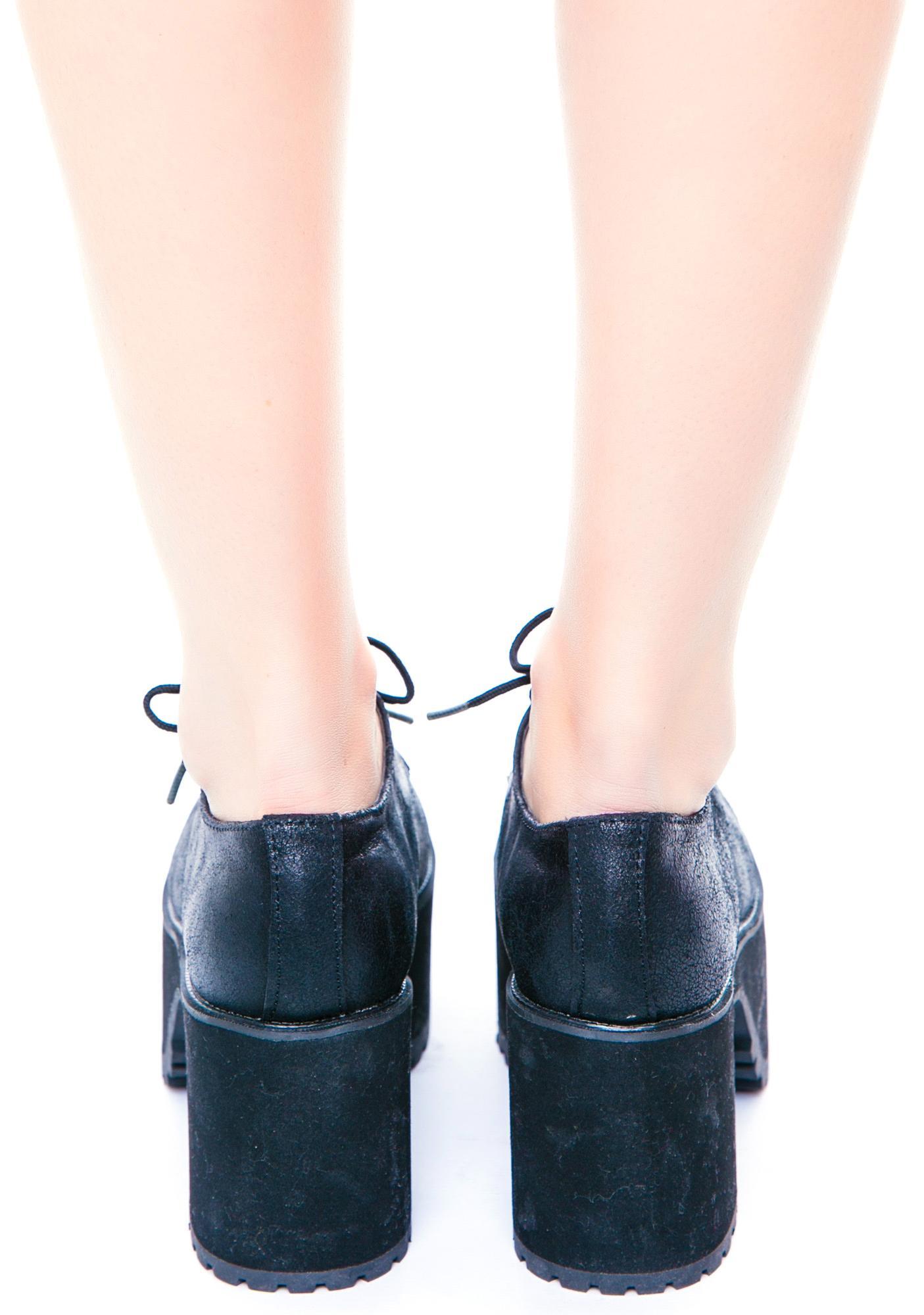 T.U.K. Suede Nosebleed Heels