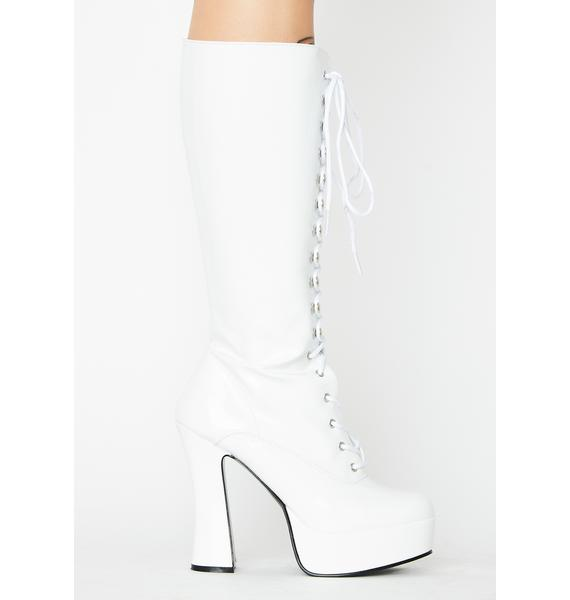 Pleaser Frosted Hundreds Only Exotica Platform Boots