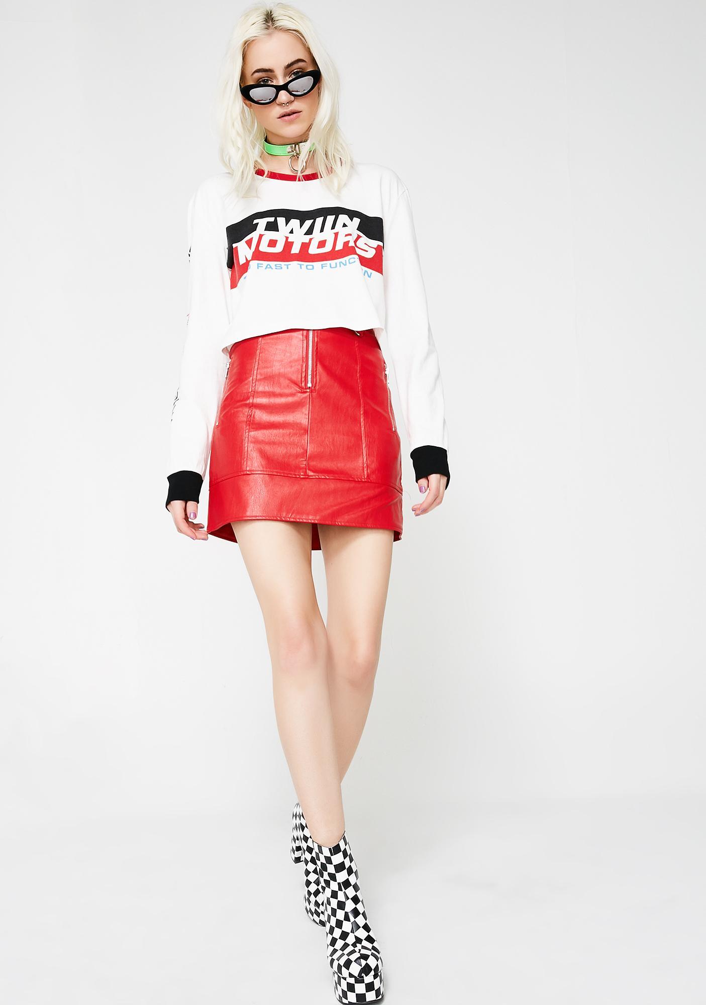 Twiin Overtake Biker Skirt