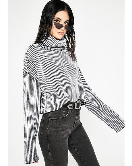 First Name Trouble Stripe Sweater