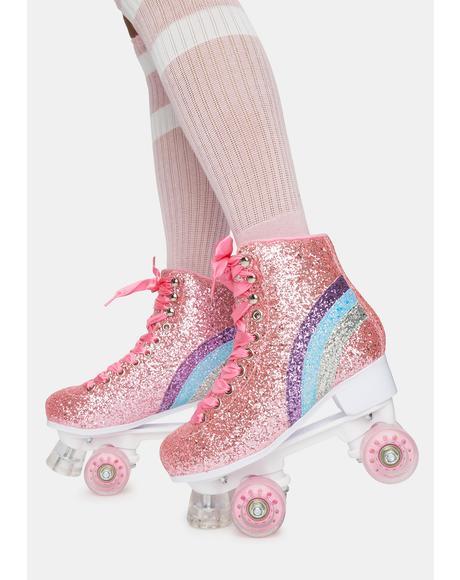 Disco Derby Glitter Roller Skates