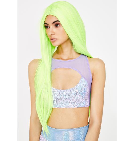 Neon Nightscape UV Wig