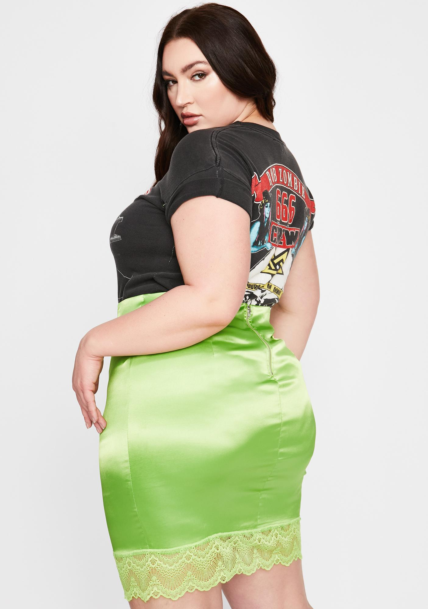 Lush Mz Pretty Girl Rock Mini Skirt