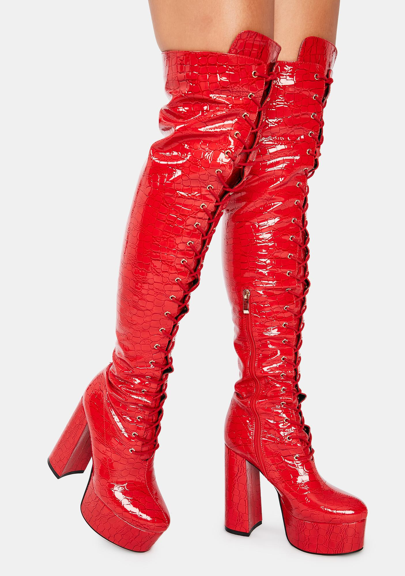 AZALEA WANG Polly Thigh High Boots