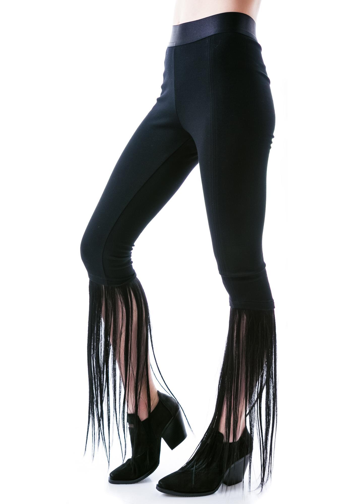 Widow Four Horsemen Faux Hair Leggings