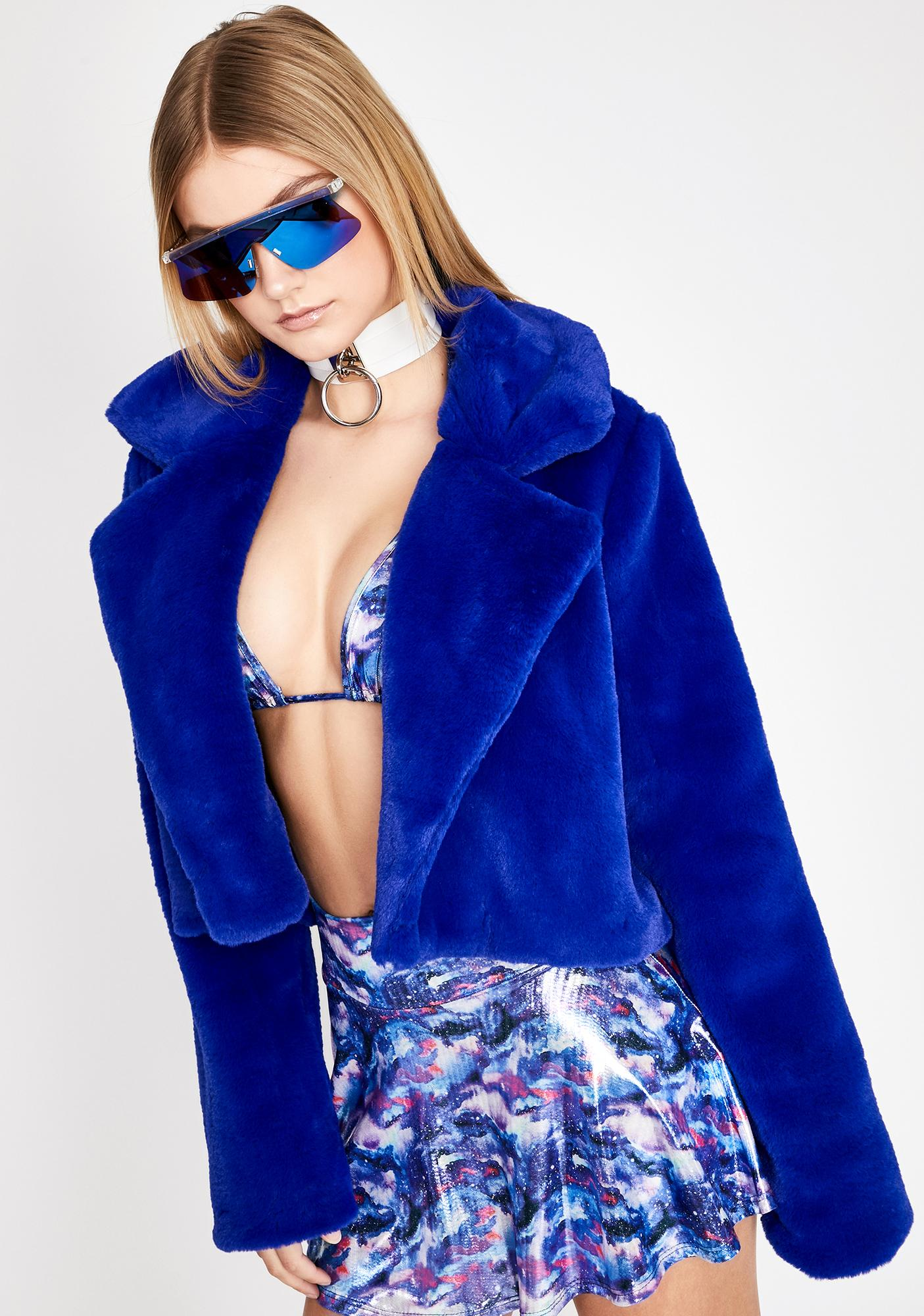 Royal Lux Attitude Fuzzy Jacket
