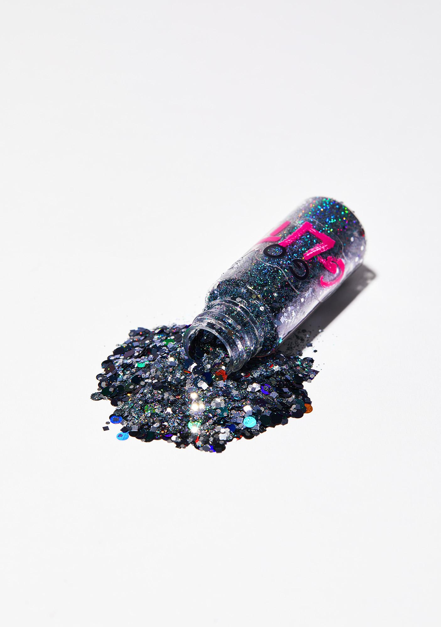 Go Get Glitter Chunky Black Holographic Glitter