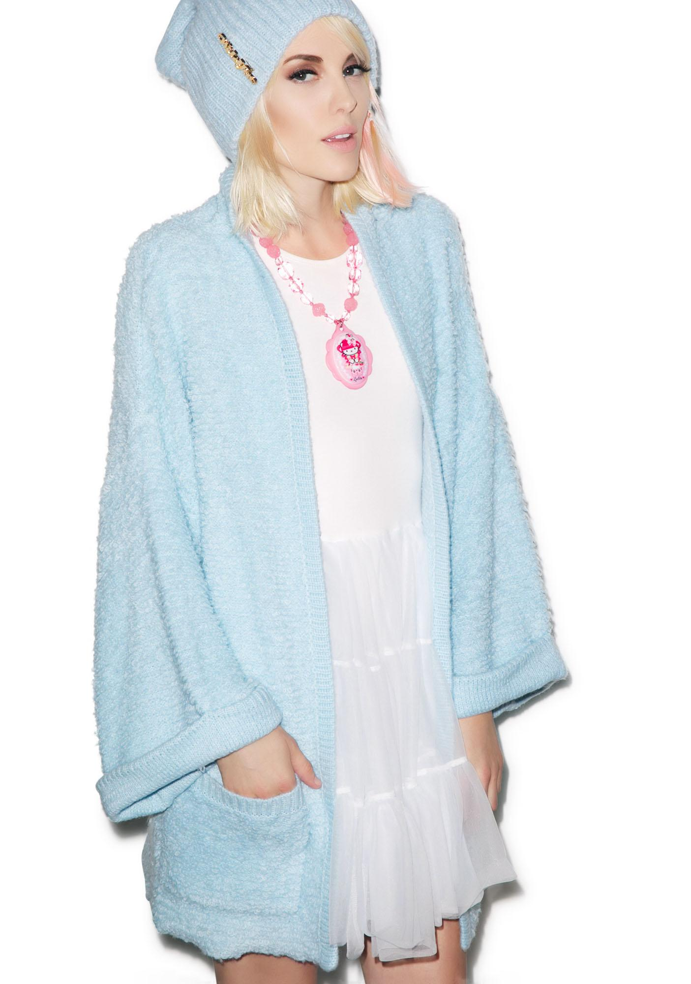 Wildfox Couture Logo Patch Slouch Cardigan