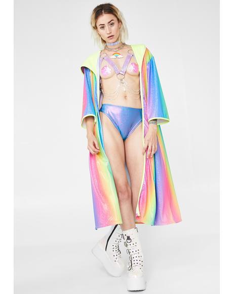Glitter Rainbow Kimono