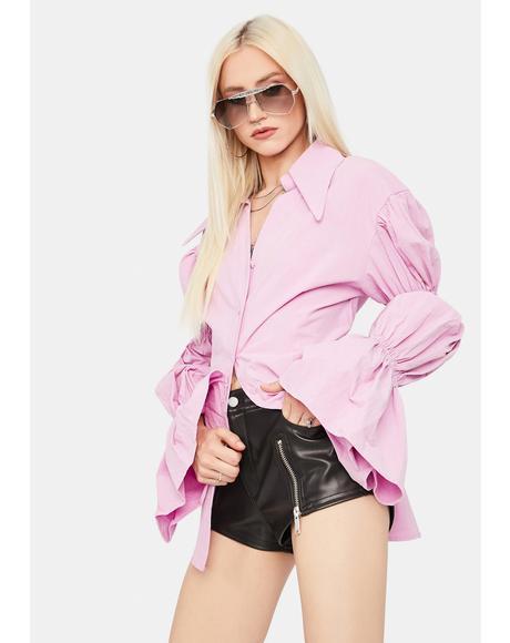 Berry Set The Trends Shirt Dress