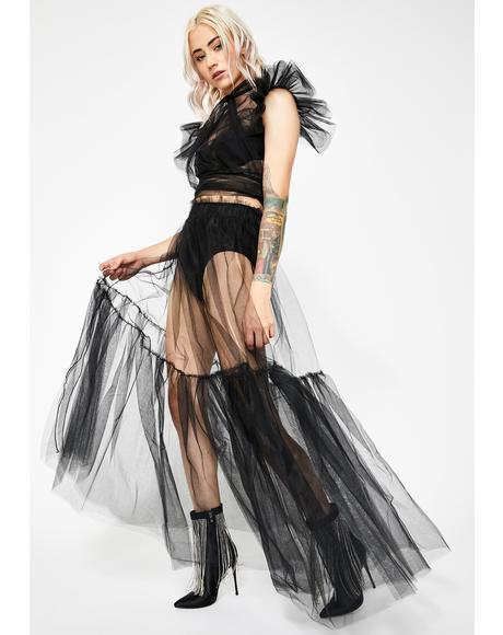 Haunt My Heart Tulle Skirt