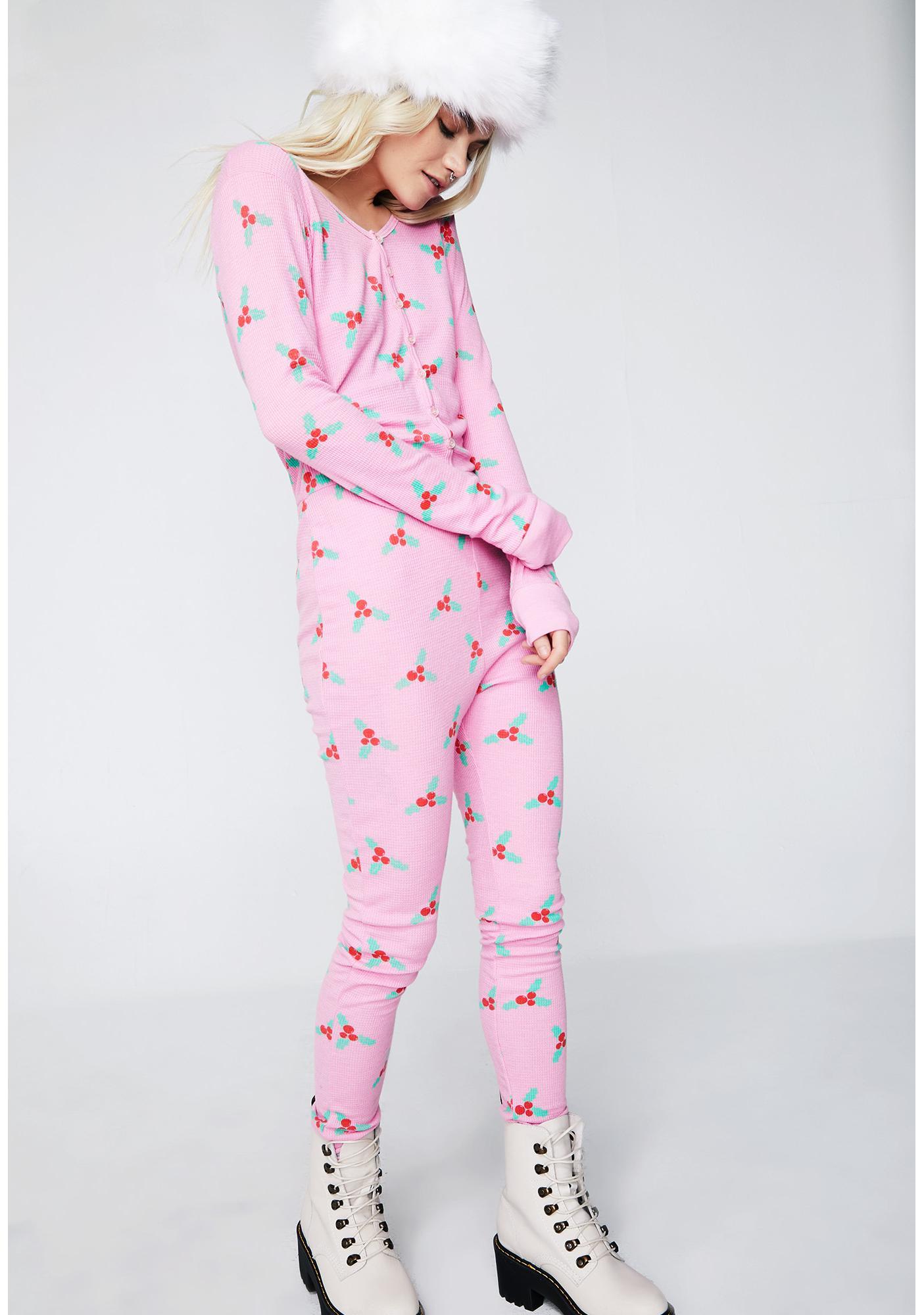 Wildfox Christmas Pajamas.Under The Mistletoe Sleeping Onesie