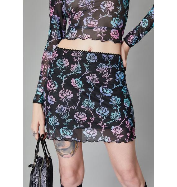 Widow Garden Of Evil Mini Skirt