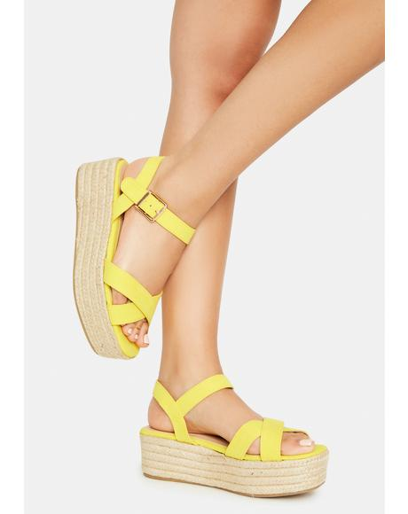 Sunny So It Goes Strappy Espadrilles