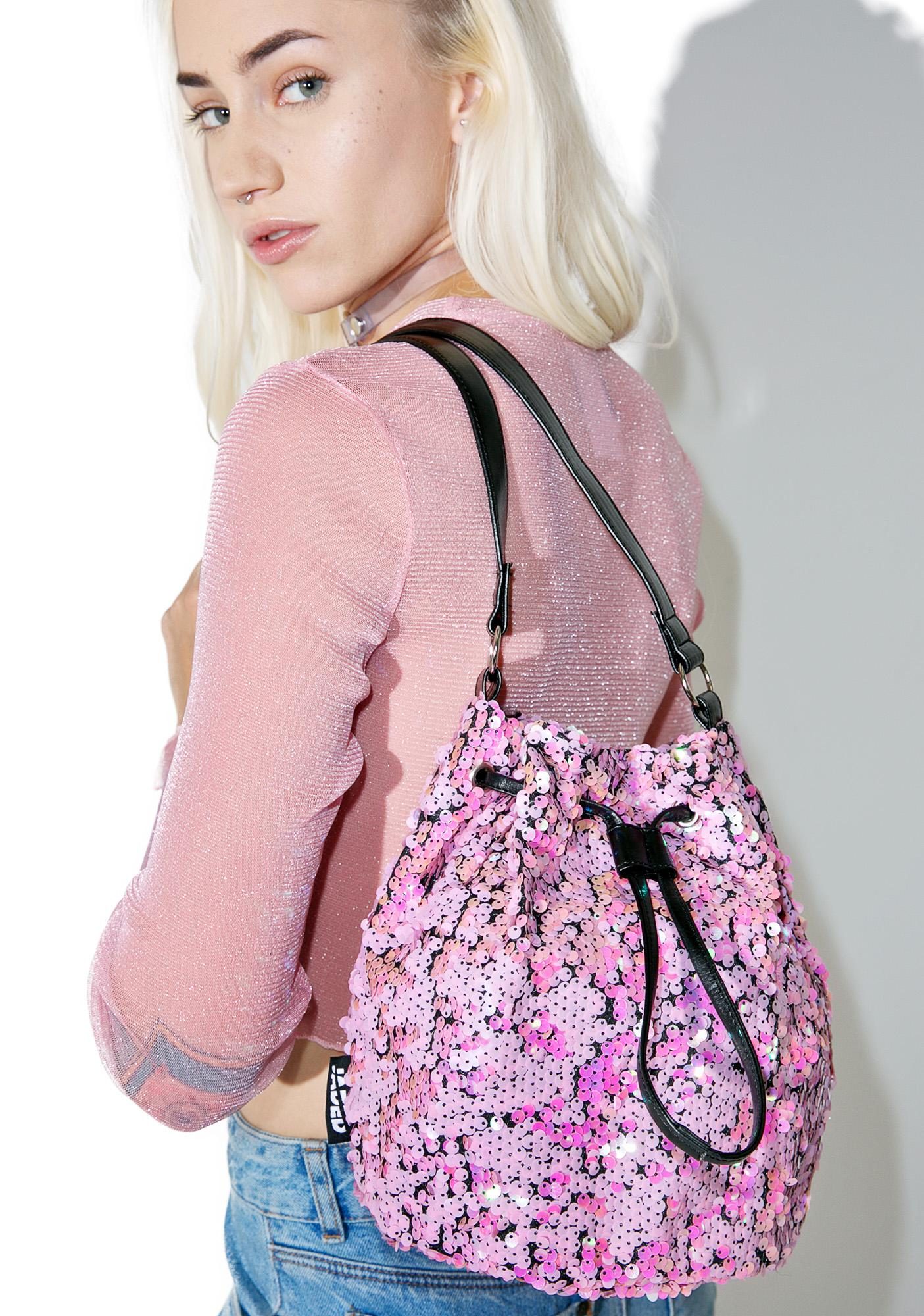 Jaded London Mermaid Iridescent Sequin Bag