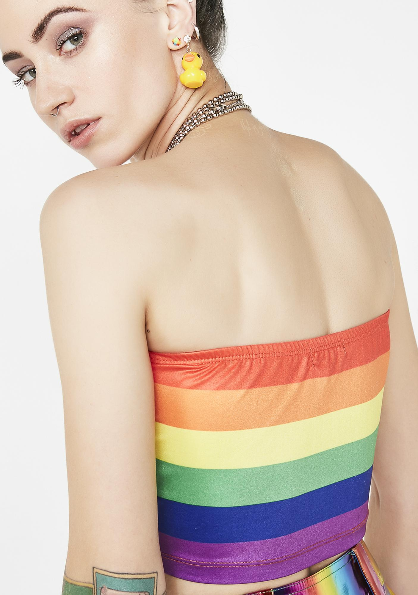 Current Mood Rainbow Riot Tube Top