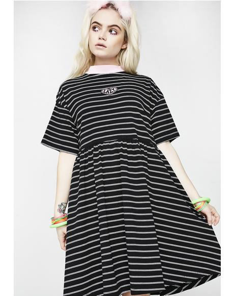 Tiny Stripe Sally Sack Dress