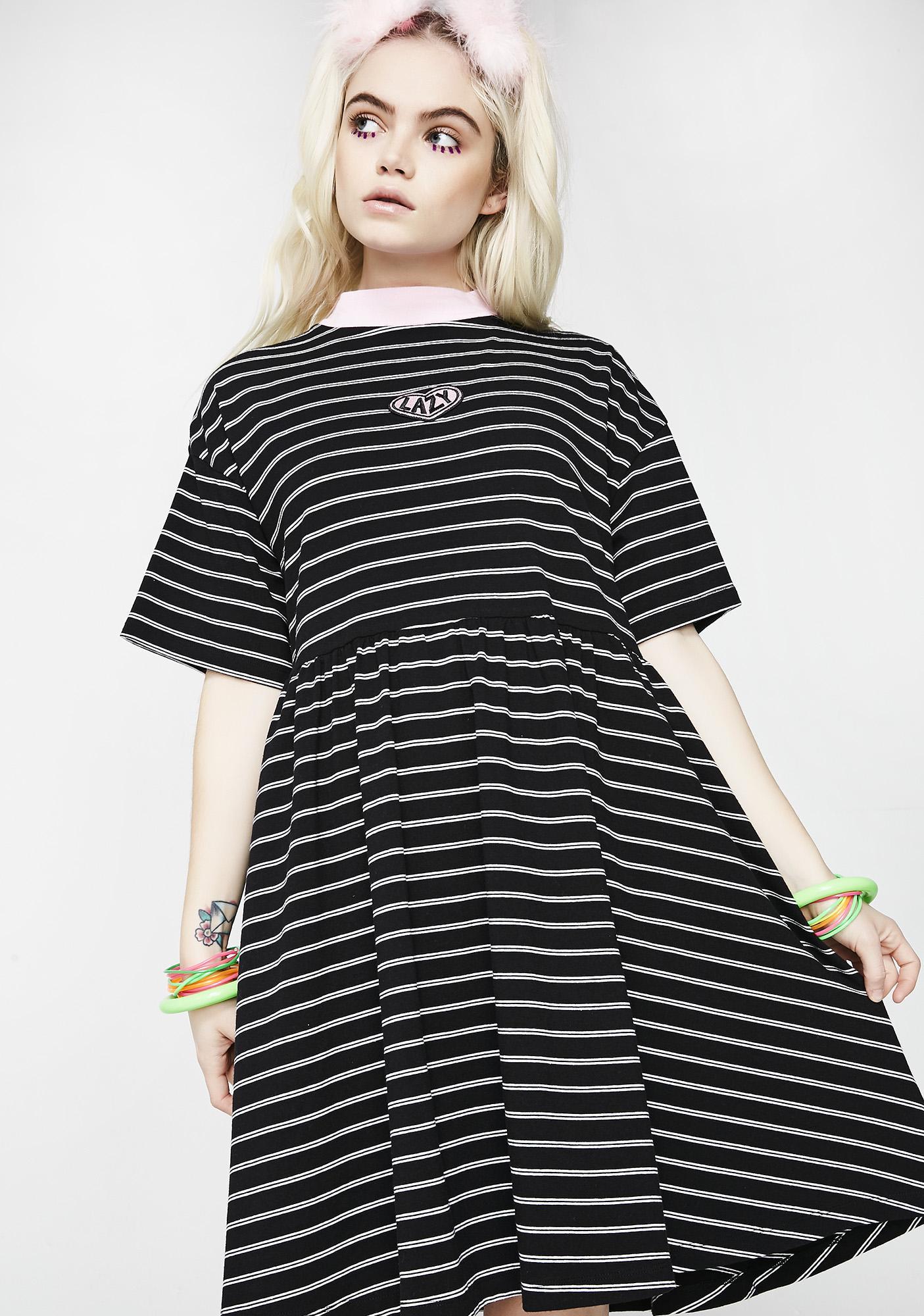 Lazy Oaf Tiny Stripe Sally Sack Dress