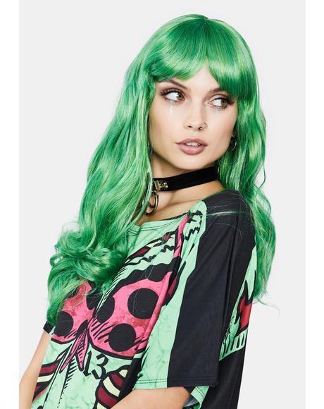 Emerald Misfit Wavy Wig