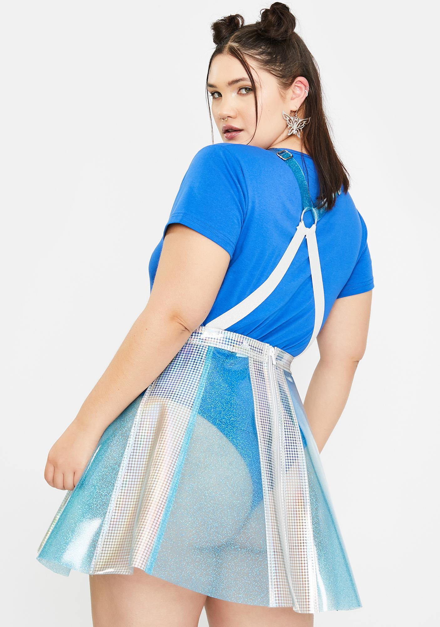 Club Exx Ur Pixie Gurl Hologram Overall Dress