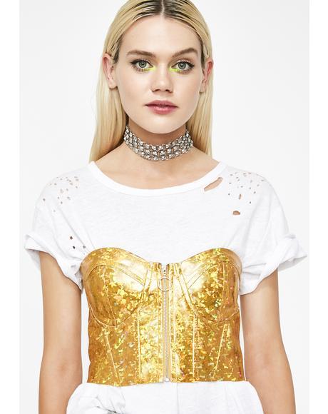 Golden Prism Princess Hologram Bustier