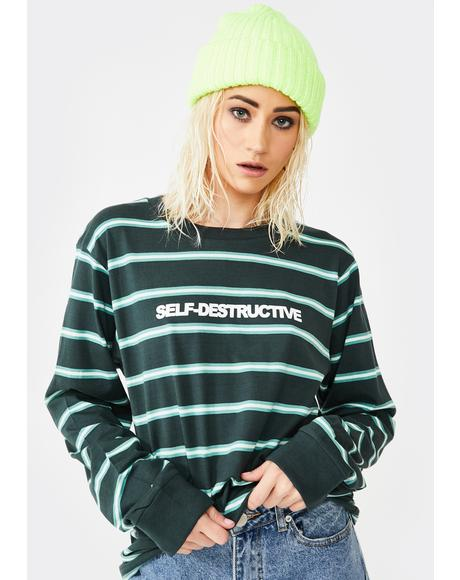 Self-Destructive Long Sleeve Tee