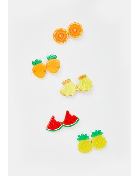 Fresh Squeezed Hair Clips Set