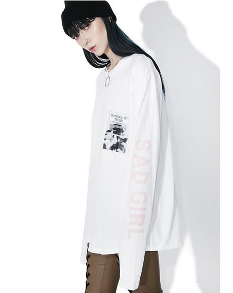 Sad Girl Long Sleeve Tee