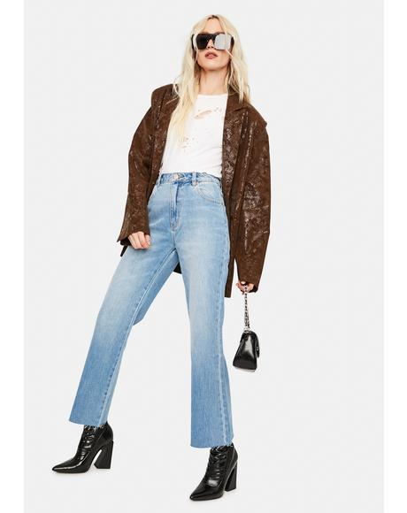 June Blue Organic Eastcoast Flare Crop Jeans