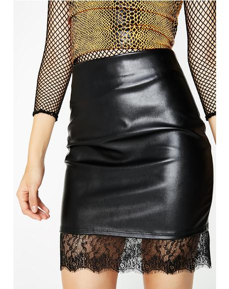 Behaving Badly Lace Skirt