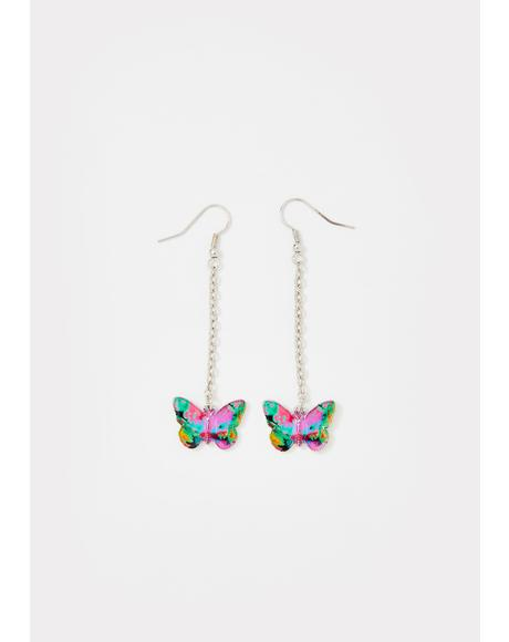 Fly So High Chain Earrings