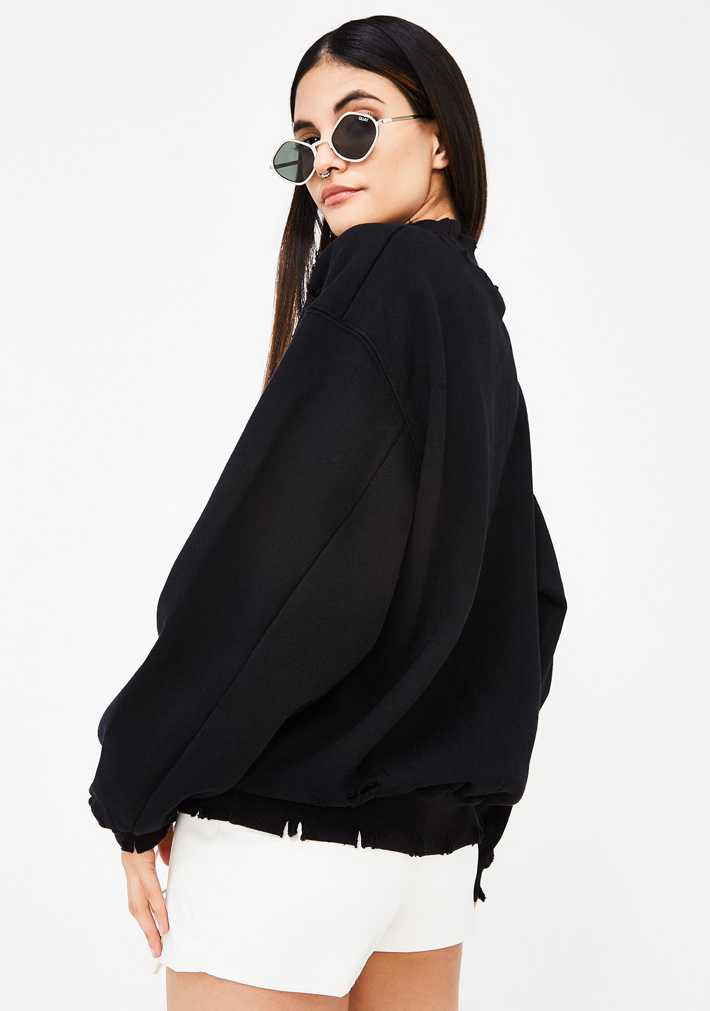 Onyx Fade Away Distressed Sweatshirt