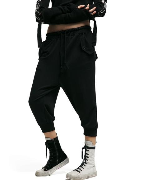 Distortion Cropped Joggers