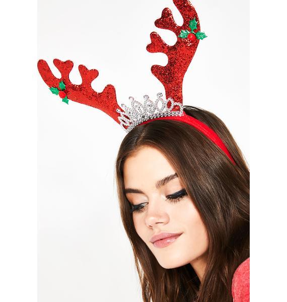 Reindeer Royalty Glitter Headband
