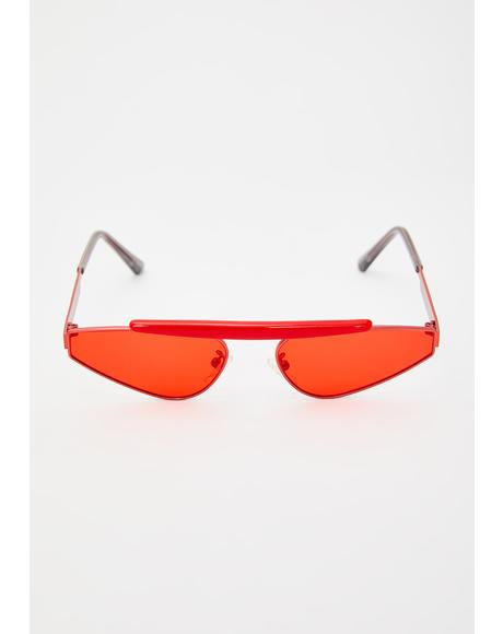 Hot Shade Radar Triangle Sunglasses