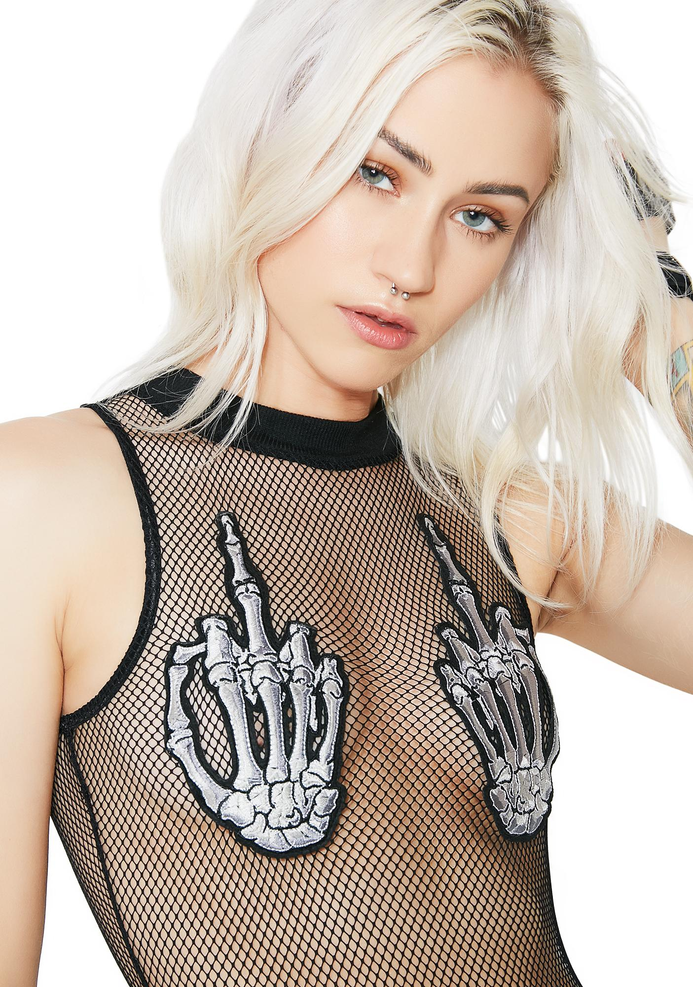 Dolls Kill Bad To The Bone Bodysuit