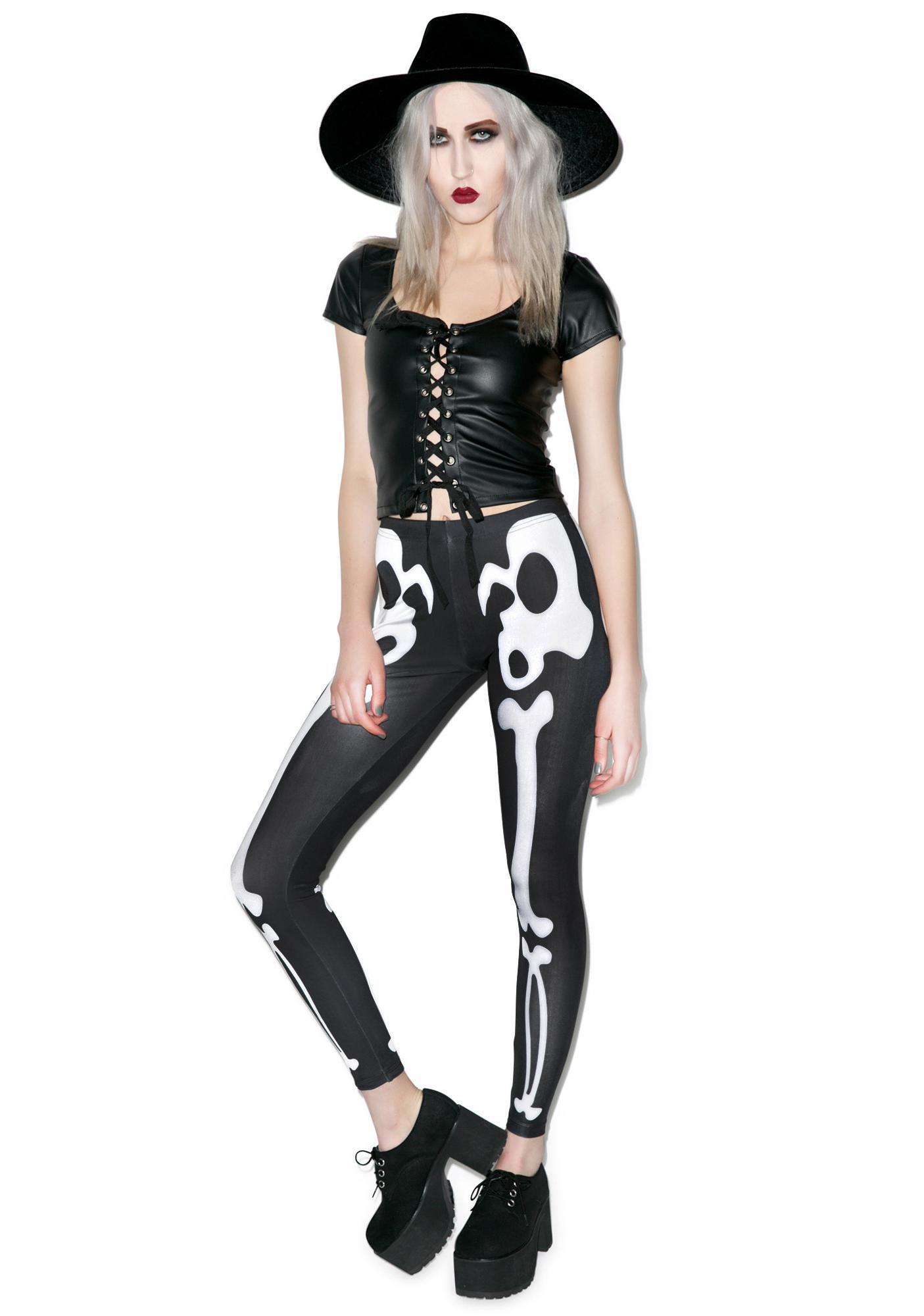 Disturbia Bones Leggings