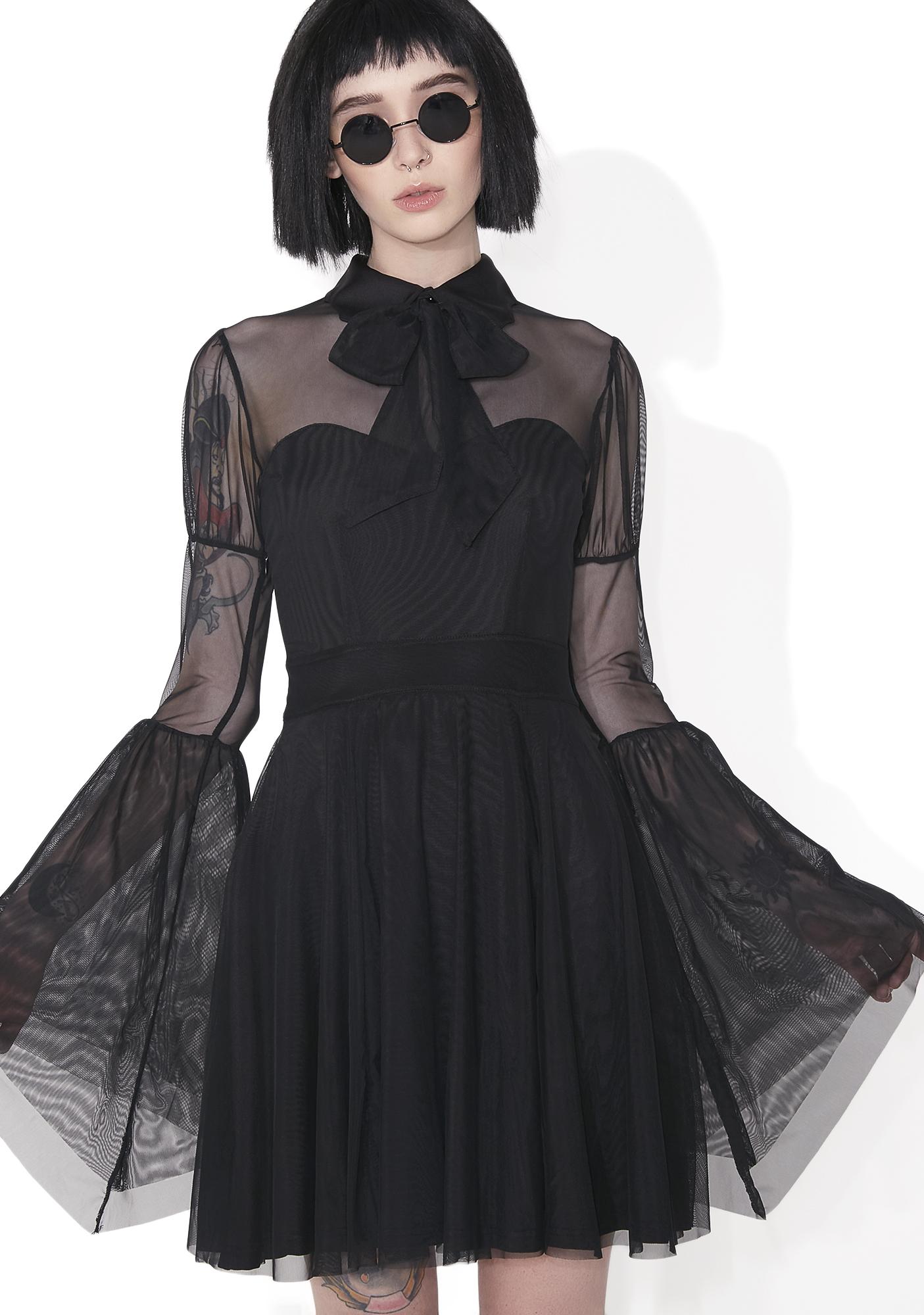 Killstar Bound By Blood Chiffon Dress