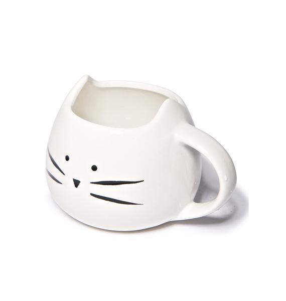 White Kitty Mug