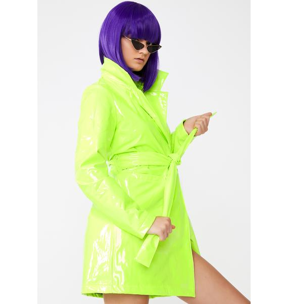 Dolls Kill Slime Viral Vengeance Trench Coat